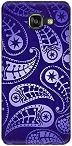 The Racoon Lean printed designer hard back mobile phone case cover for Samsung Galaxy A5 (2016). (Paisley In)