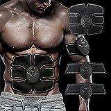 Elektrostimulation Muskelaufbau Muskelstimulation Fitness Geräte Bauchmuskeln, Muskel Trainer EMS-Training Muskelaufbau Fettverbrennungn Massage, Home Fitness Machine Elektroden Pads zu Hause fü Männer Frauen