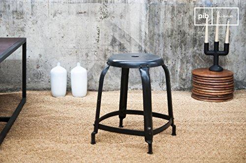 Pib sgabelli sgabello nero con chiodi in stile vintage alto