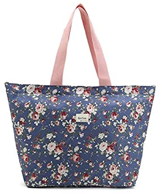 Floral Tote Bag Shoulder Bag Gym Hiking Picnic Travel Beach bag for women girl,Coin Purse Cosmetic bag,School Backpack For litter Girls Student Children