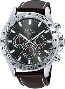 Lorus RT381DX-9 - Reloj de pulsera hombre, piel, color marrón de Lorus