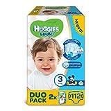 Huggies Pannolini Bimbo, Taglia 3 (4-9 kg), 2 confezioni da 56 [112 Pannolini]