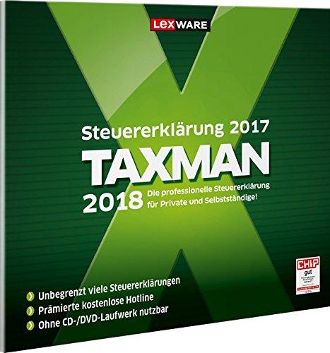 Lexware Taxman 2018 für das Steuerjahr 2017 Übersichtliche Steuererklärungssoftware für Arbeitnehmer, Familien, Studenten und im Ausland Beschäftigte Kompatibel mit Windows 7 oder aktueller