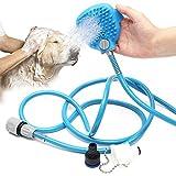 TOOGOO Haustier Badungs Werkzeug Bequeme Massager Duschwerkzeug Reinigungs waschende Bad Sprayer Palme Sized Dog Scrubber Sprueher Handmassage