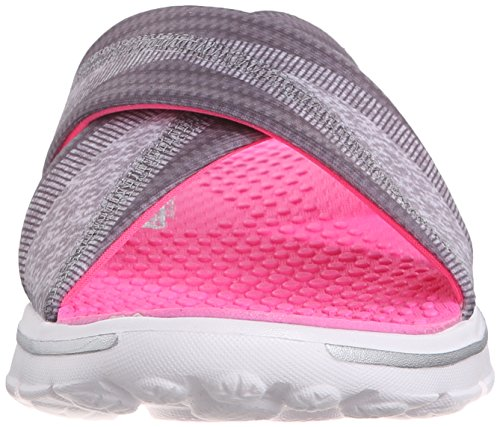 SkechersGo Walk Fiji - Sandali donna Charcoal/Hot Pink