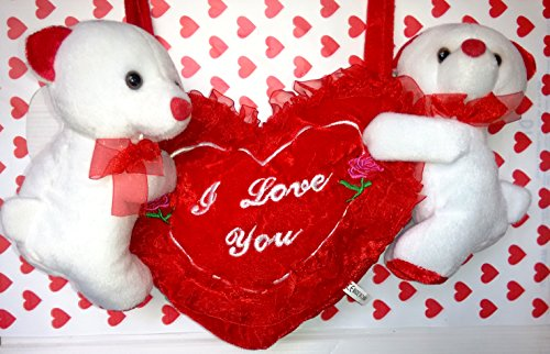 Valentine's Day Gift | Musical Couple Teddy with Red Heart | Gift for Her / Him