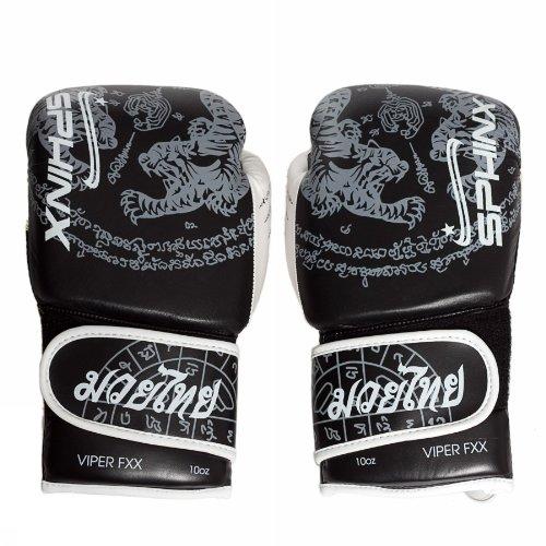 Sphinx Gear Viper Fxx, Tiger Edition Guanto da Boxe, Nero, 10 oz
