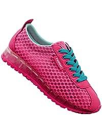 Mujer Zapatillas De Deportivos Sneakers Casual Malla para Verano Respirable Running Gimnasia Baloncesto Calzado