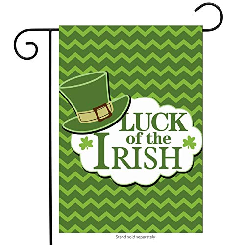 Irish Chicago Flagge (ASKYE Luck of The Irish St. Patrick's Day Garden Flag Leprechaun Hat for Party Outdoor Home Decor(Size: 28inch W X 40inch H))