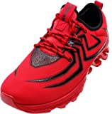 JOOMRA Herren Leichte ein Hingucker Schuh Arbeitsschuhe Sneaker für Sport oder zur Jeans Mode Luftkissen Men Rot Schwarz Spider Spinne 41 EU