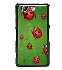 Beetle Line 2D Hard Polycarbonate Designer Back Case Cover for Sony Xperia Z4 Compact :: Sony Xperia Z4 Mini