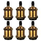 DiCUNO 6 Pack E27 Vintage Ampoule solide céramique douille Support de lampe Edison Vis Ampoule adaptateur Socket