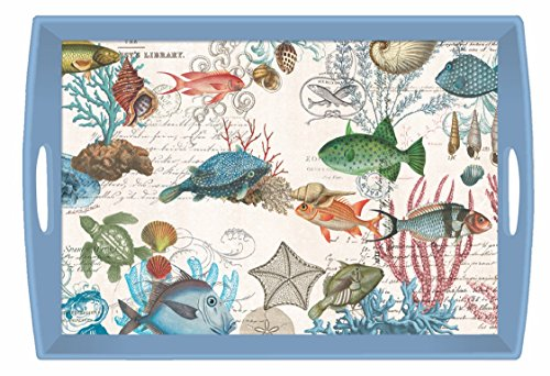 Michel Design Works Tablett, Holz, Pfingstrose - Butterfly Garden Tray