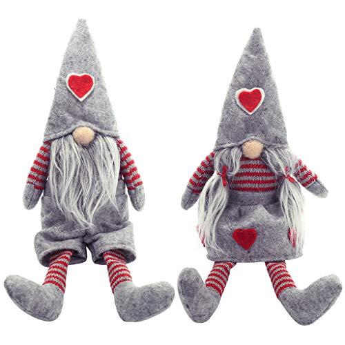 Weihnachten Gesichtslose Puppe Anhänger 2 STÜCKE Weihnachten Weihnachtsmann Puppe Spielzeug Pom Puppe Anhänger Weihnachten Plüsch Puppen Party - Display Und Kostüm Weihnachten