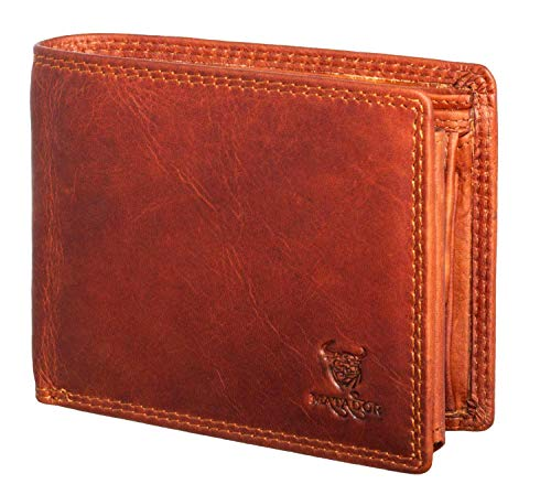 MATADOR Herren Leder Geldbörse Portemonnaie RFID Braun -