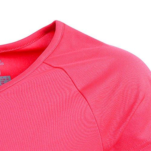 adidas Mädchen Gear Up T-Shirt, Real Coral/Hi-Res Orange/White, 128