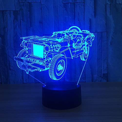 7 farbe 3D LED nachtlicht dynamische ackerschlepper auto 3D visuelles licht grünes licht gadget Weihnachten geburtstagsgeschenk berührungsschutz augenlicht ## 9 - 3-stift-wand-adapter