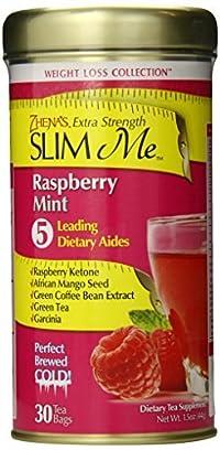 Zhena's Gypsy Tea Extra Strength Slim Me Green Tea, Raspberry Mint, 30 Count