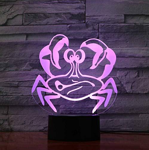 7 Farbwechsel 3D Led Touch Button Krabben Modellierung Wohnkultur Nachtlicht Schreibtischlampe Atmosphäre Usb Tier Beleuchtung Für Kind Geschenke