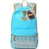 Leaper Rucksack aus Canvas mit hübschem Polka Dot und aztekischen Mustern als Schultasche und leichter Rucksack