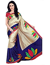 Miraan Women's Kora Silk Saree With Blouse Piece (Vi8981A-10,Multicolor,Free Size)