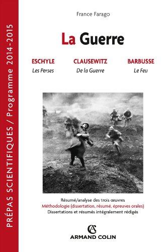 La guerre: Prépas scientifiques : Français-Philosophie Question 2014-2015