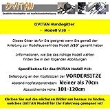 OVITAN Hundegitter fürs Auto 10 Streben universal zur Befestigung an den Kopfstützen der Vordersitze – für alle Automarken geeignet – Modell: V10 - 3