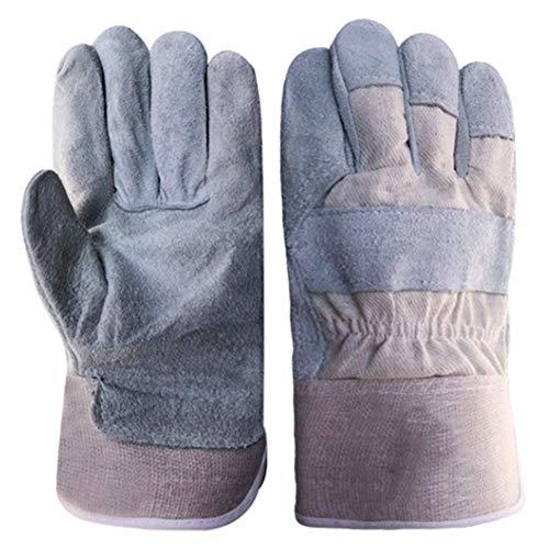 Preisvergleich Produktbild Leder-Arbeitshandschuh-Korn-Rindleder Für Die Behandlung,  Elektrisches Schweißen,  Ausschnitt,  Schweißen,  Lager,  Bau,  Motorrad (3 Paare)