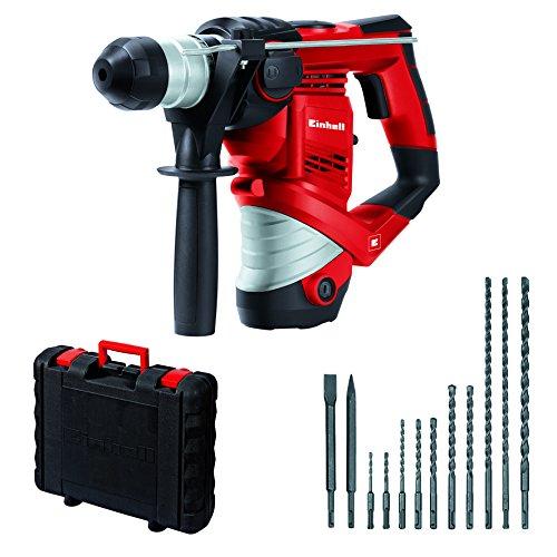 Einhell Bohrhammer Set TC-RH 900 (900 W, 3 J, Bohrleistung in Beton Ø 26 mm, SDS-Plus-Aufnahme, inkl. 12 tlg. Bohr- und Meißelset, im Koffer)