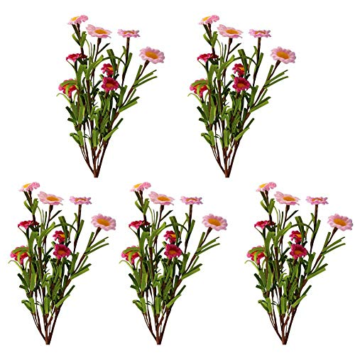 Coseyil Künstliche Gänseblümchen UV-beständige Umweltfreundliche DIY Outdoor Kunstblumen Dekoration für Balkon Hochzeit 5 Stück (Verkauf Zum Dekor Hochzeit)