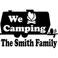 mmwin Camping Rv Camper Tag Along Travel Trailer Custom Window Vinyl Decal Sticker 60 * 40Cm