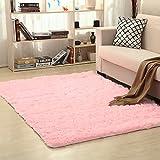 EOZY Alfombra de Peluche Antideslizantes para Salón Dormitorio Rosa 80×120