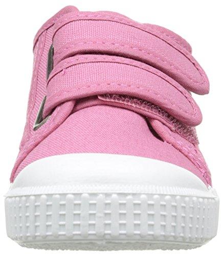 Victoria Lona Dos Velcros, Baskets Basses Mixte Enfant Rose (09 Frambuesa)