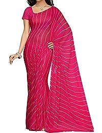 Ekam Art Women's Chiffon Saree With Blouse Piece (Sr-24 _Pink)