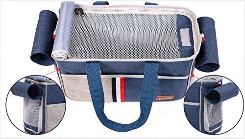 BENWEI Classics Pet Carrier,Portable Dog Cat Handbag Outdoor Soft Sided Pet Shoulder Bag Foldable Travel Tote,Under Seat… 13