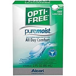 OPTI-FREE Pure Moist Multi-Purpose Disinfecting Solution, All Day Comfort 2 oz