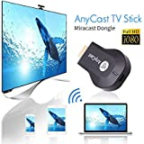 MLD® Smartphone Compatible Anycast TV Stick, AnyCast 1080P WiFi Wireless Mini Display Receiver Dongle HDMI TV Miracast DLNA Airplay For IOS Apple IPhone IPad Android Smartphone Windows Mac