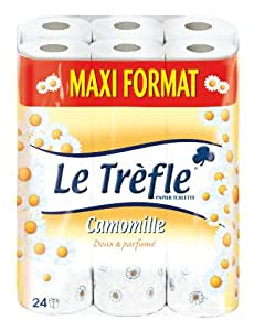le tr 232 fle 407728 papier toilette camomille 24 rouleaux maxi format fr hygi 232 ne