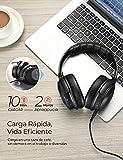 Mpow H17 Auriculares Diadema Bluetooth (ANC, Carga Rápida, Orejeras de Proteína Genuina, 32Hrs de Reproducir, CVC 6.0), Cascos Bluetooth con Cancelación de Ruido para TV/Móvil/PC