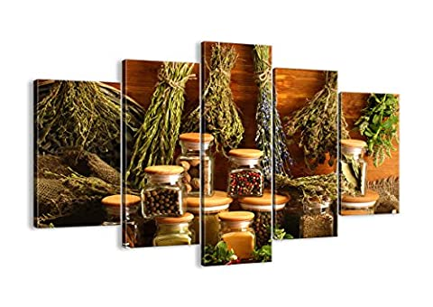 Canvas Picture - 5 Piece - Total size: Width 59,1