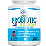 #2: ProNutrition Advanced Probiotics 25 Billion per Capsule, 14 Probiotic Strains, 90 Veggie Capsules- Restore the Natural Balance of Good Bacteria which Helps Digestive & Immune Health