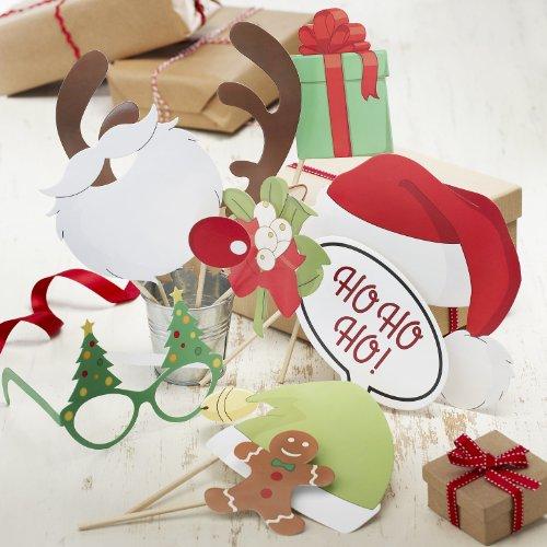 oto Booth Zubehör für Foto-Ecke Weihnachten gemischt, 10 teilig ()
