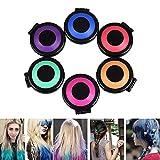 Haarkreide Einstellen 6 Farben DIY Haarfärbemittel Kreide Färben für Mädchen, Geburtstag, Party, Rollenspiel, Theater