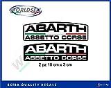 Aufkleber Aufkleber 2 Stück Logo Abarth Renntrimm Italien Fiat Punto 500 WRC