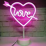 Neonlicht, LED-Herz-Schild, dekoratives Licht, Wanddeko, für Valentinstag, Geburtstag, Party, Kinderzimmer, Wohnzimmer, Hochzeit, Party, Dekoration, Rosa