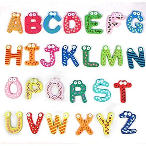 Fortan 26 lettere di legno del magnete del frigorifero ragazzo giocattolo educativo del bambino