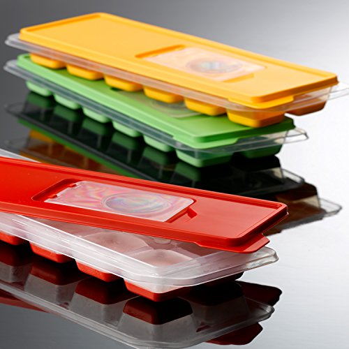 Gondol kühlen und Weichen- und Icecube Tablett mit Deckel, 270x 95x 38mm, rot, 24 Deep Colander