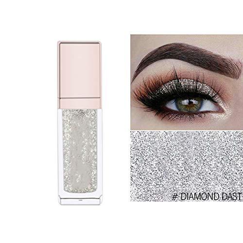 Eyeliner Glitter, Rowentauk Glitter Flüssiger Eyeliner Langlebiger wasserdichter metallischer funkelnder Lidschatten Stift