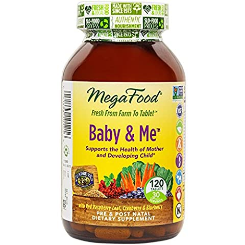 MegaFood, DailyFoods, Baby & Me, 120 Tablets