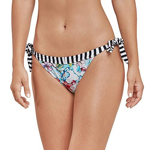 Schiesser Damen Mix & Match Bikinislip Tanga Bikinihose, Mehrfarbig (Multicolor 1 904), 40 (Herstellergröße: 040) - Mix Und Match Tankinis